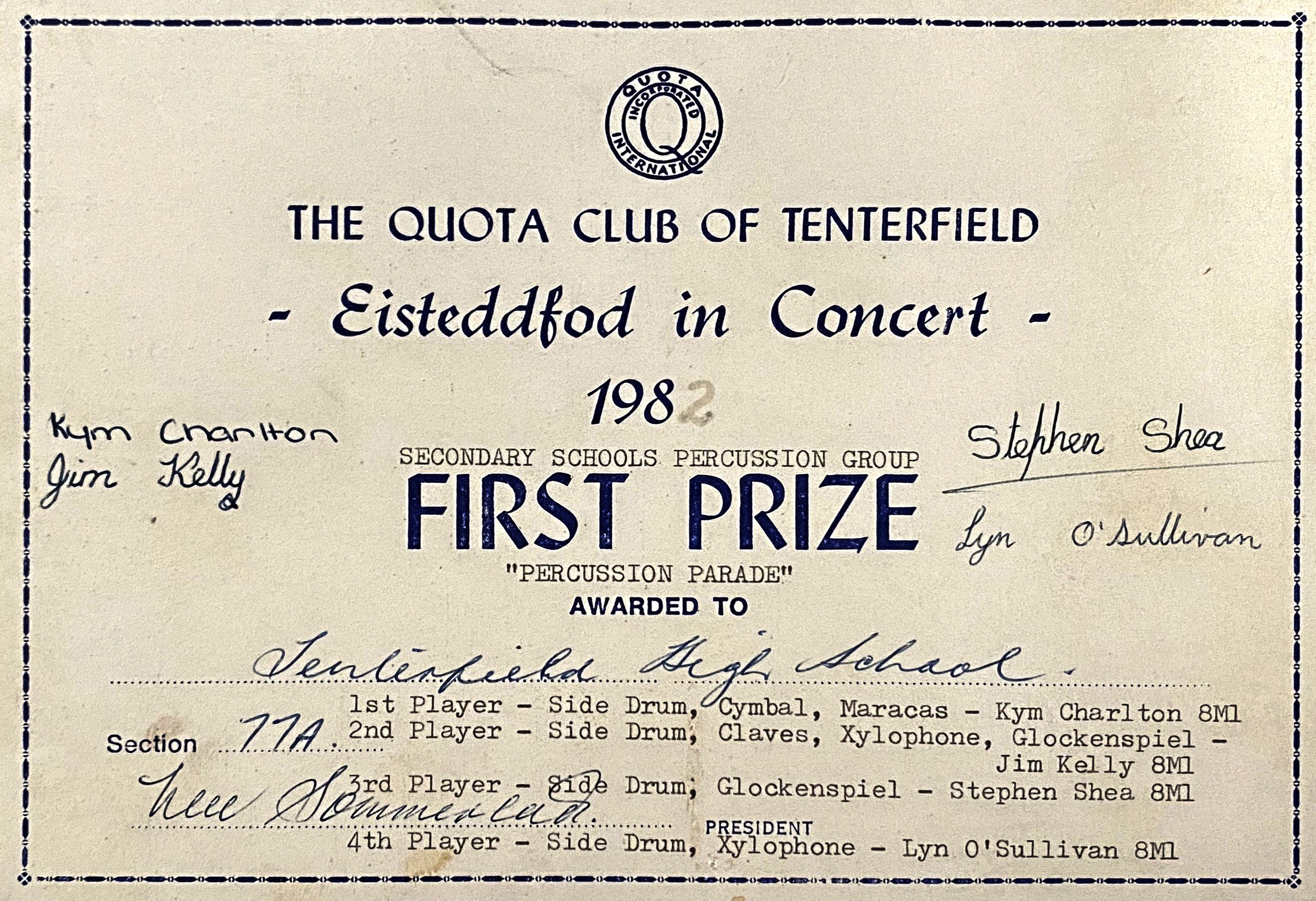 1982_FirstPrizeCert_THS