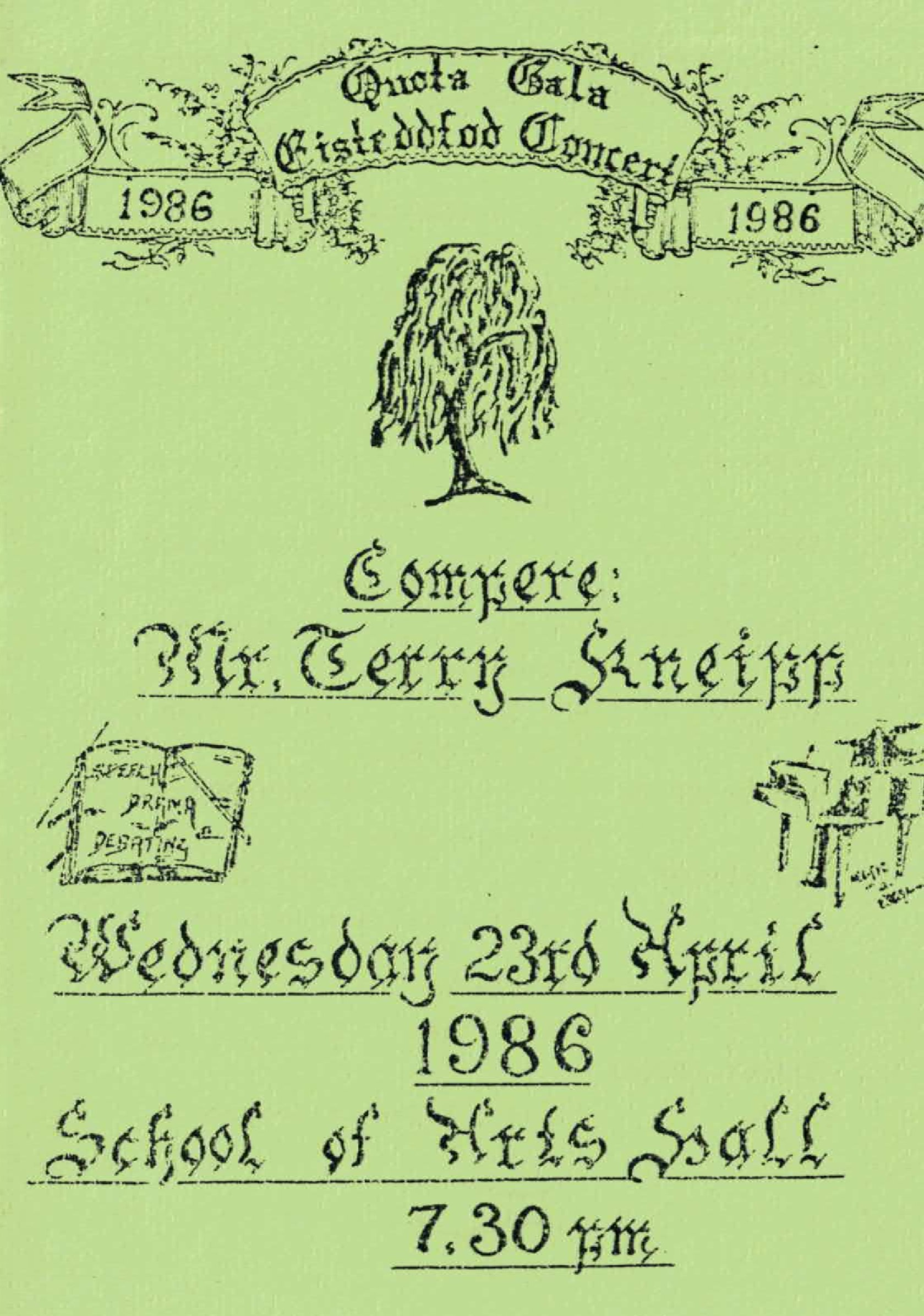 1986 Eisteddfod Programme Cover